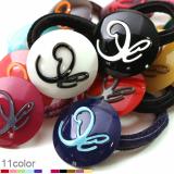 R Circle ponytail holder