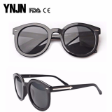 YNJN custom logo women mirror lens round sunglasses