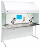 Workstation Prepared for two Stereomicroscopes for IVF