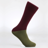 Men_s dress socks _ Old khaki block socks_Egyptian cotton