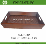 Nice bamboo tray with hole handle