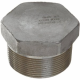 stainless ASTM A182 F321 hex head plug
