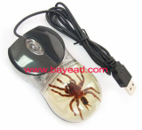 real insect tarantula spider optical computer mouse,so cool gift,glow in dark
