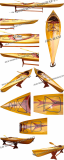 Kayak with arrows design 17 feet long