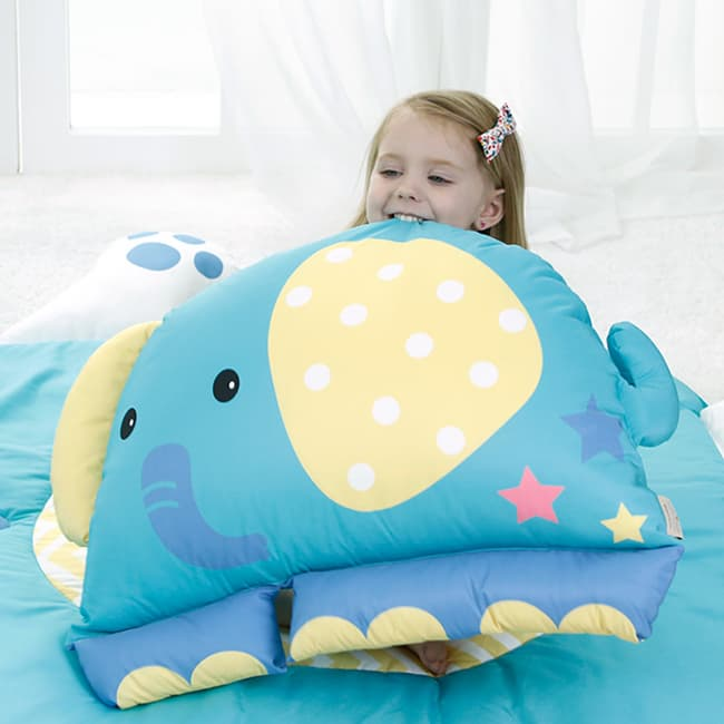 Animal Attached Child Baby Microfiber Pillow From