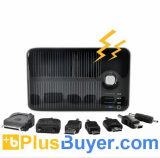 5000mAh Solar Battery Charger with Dual Charging Ports for iPod, iPhone, iPad, Samsung, HTC, Sony Ericsson and More