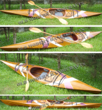Kayak with stripes 2 - 15 feet long