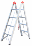 Aluminum folding ladder 4 rungs