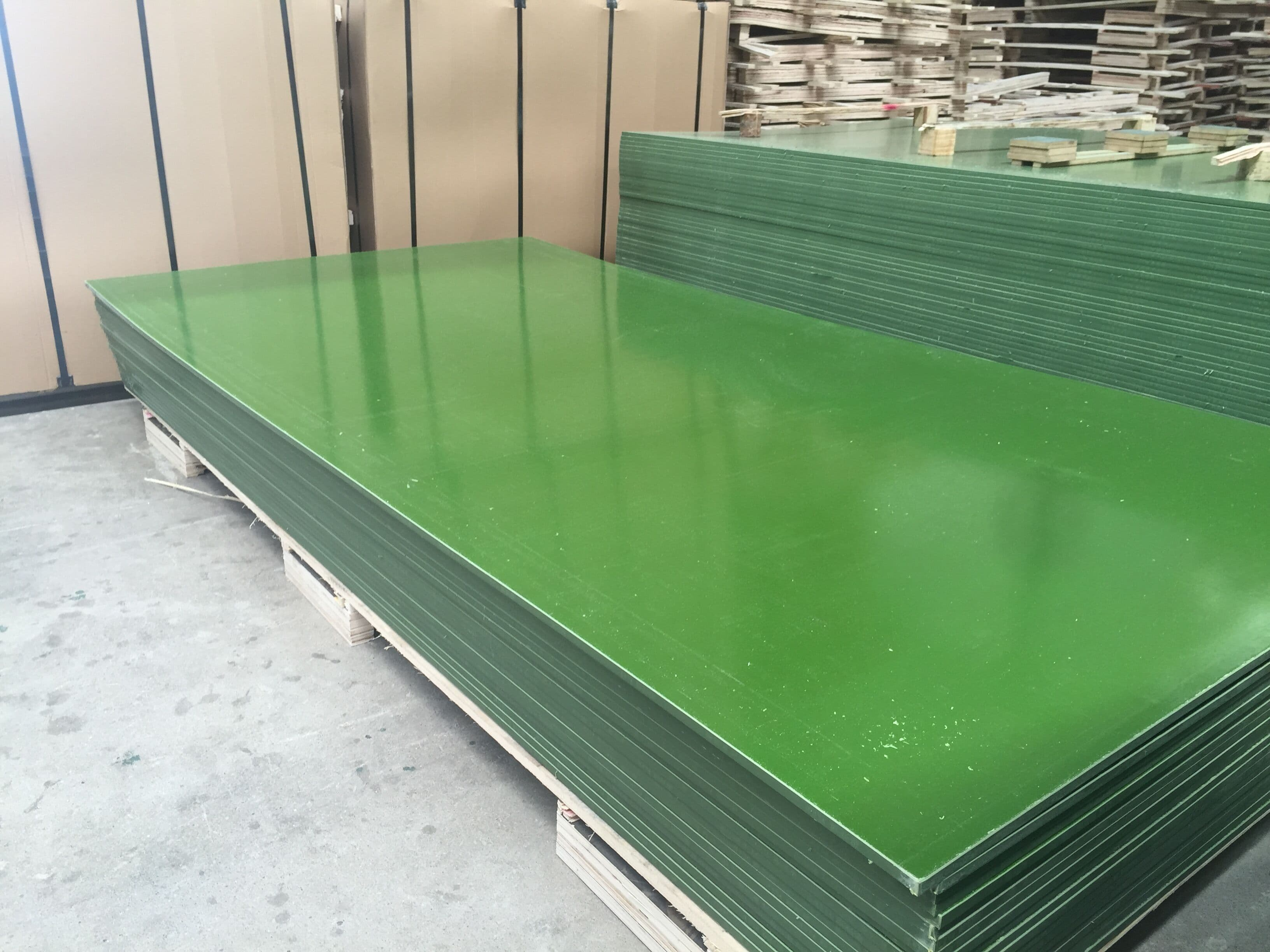 Pp Faced Plywood ~ Pp plastic faced plywood wbp green formwork panel from