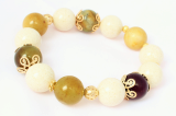 gemstone bangle-three color jade-