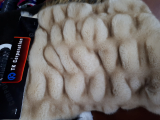 faux fur with spun yarn