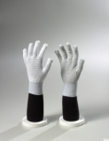 Carbon ESD pvc dots on palm side, stripe gloves
