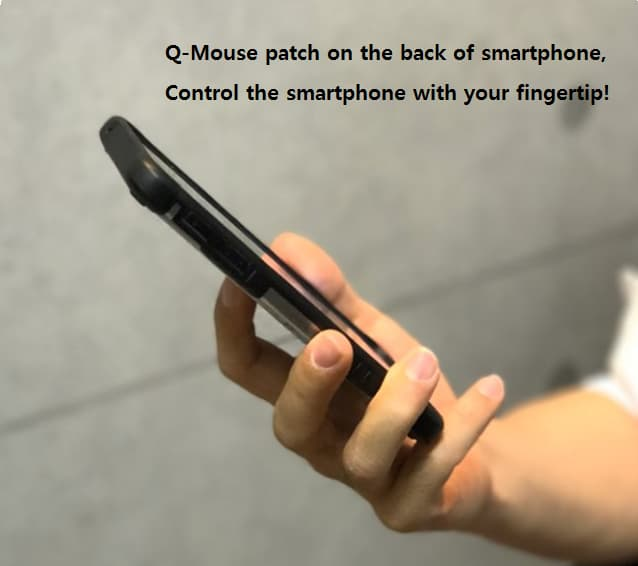 Smartphone controller case Q Mouse Patch