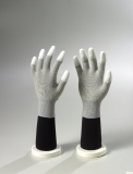 Copper ESD PU Fingertips Coated gloves