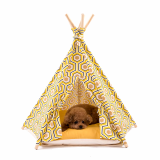 Huts and Bay_Teepee tent_Geometry Yellow