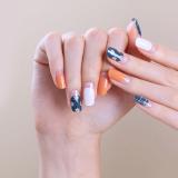 Glossy Blossom Korean Gel Nail Stickers _ Gel Nail Strips