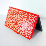 Business Card Holder Inlaid with Mother of Pearl Dragon