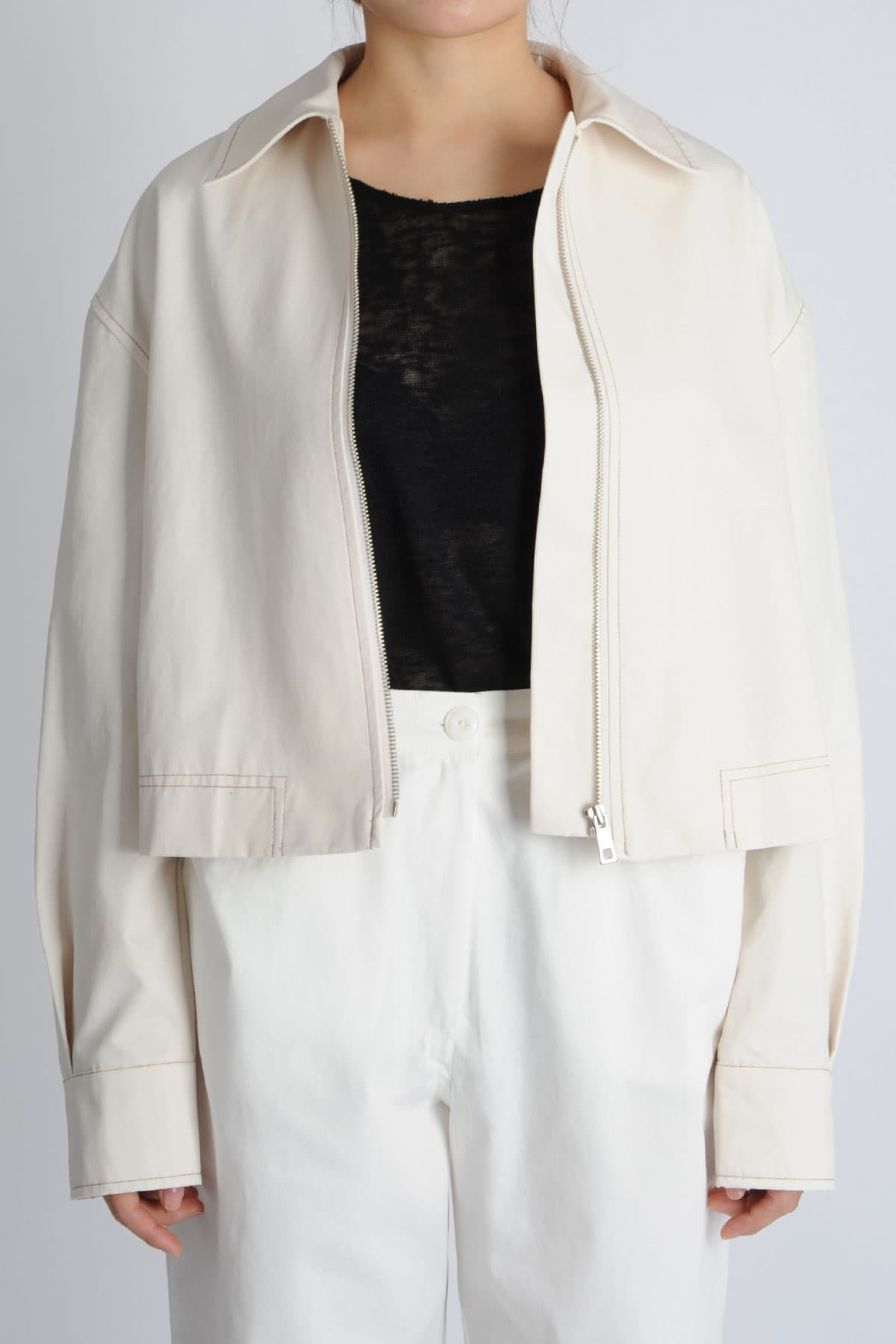 OVERSIZED SHORT TOP JACKET _1017080238_