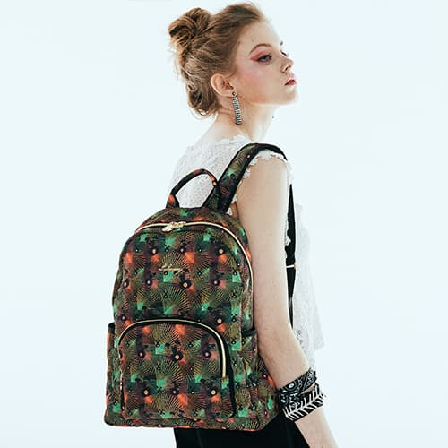 Baylie _ fashion fabric quilting backpack