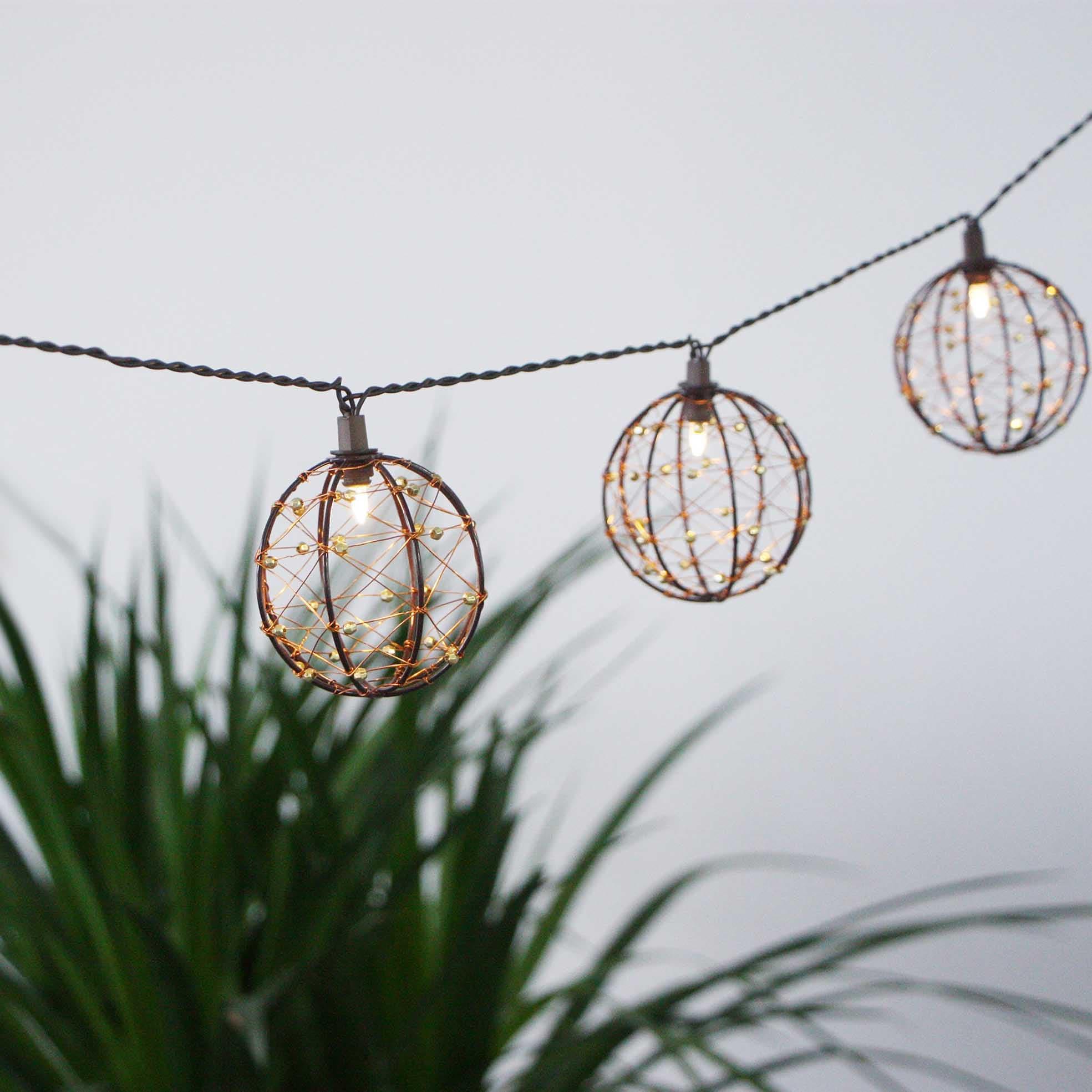 Garden String Light-Decorative Beaded Copper Wire Ball string light