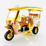 Souvenir Tuk Tuk size M The gold Fiberglass materials