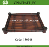 Unique brown bamboo tray
