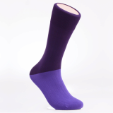 Men_s dress socks _Heather blue block socks_Egyptian cotton