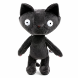 Black cute cat plush toy