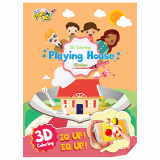 3D Coloring Playing House _Living room_