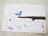 SOABE blue bird wall pocket