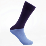 Men_s dress socks_ Sapphire blue block socks_Egyptian cotton