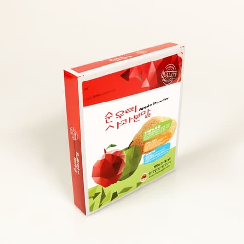Apple Powder Korean red apple 100_ 1 box _10 pieces_