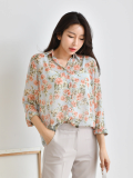 Blouses_ Shirt_ Top_ Floral_ Spring Fashion
