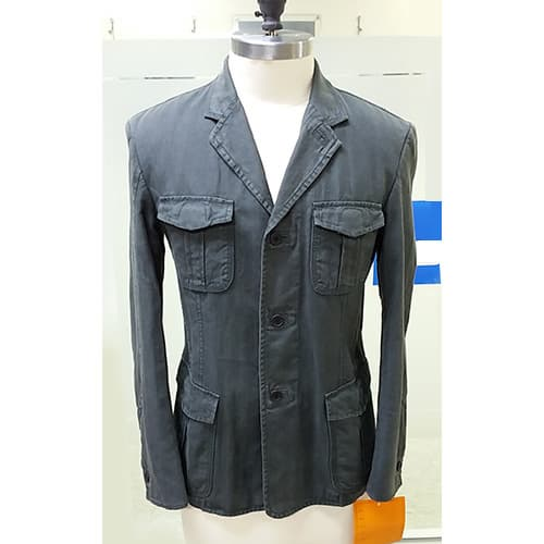 Washed cotton mens jacket