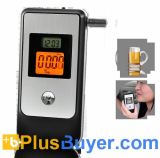 Breathalyzer with Dual LED Display and Retractable Mouthpiece