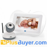 2.4GHz Wireless Baby Monitor + Night Vision Camera Set (7 Inch, Two Way Intercom)