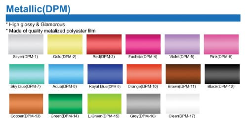 Heat Transfer Metallic Film for garment and t_shirt