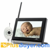 Monitor Buddy - 4 Channels Wireless Baby Monitor (7 Inch LCD, Night Vision)