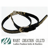 fashion belt accessories genuine leather elastic pabric ladies belts chain pu