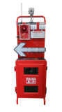 wireless call point_ wireless alarm cart_ fire pull station