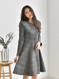 Dress_ Figure_Flattering_ Plaid_ Check_  Ladies Clothing