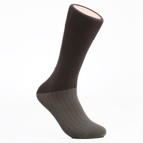 Men_s dress socks_ Military gray block socks_Egyptian cotton