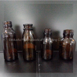 Amber glass pharmaceuticals bottle