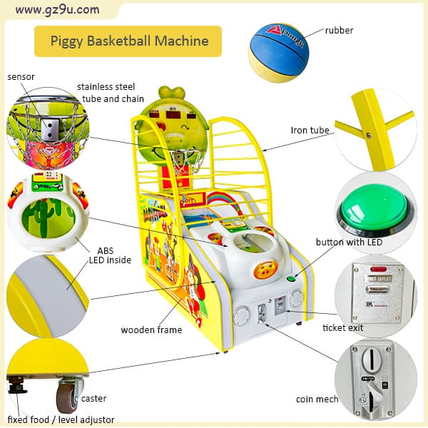Coin Operated Children Basketball Machine