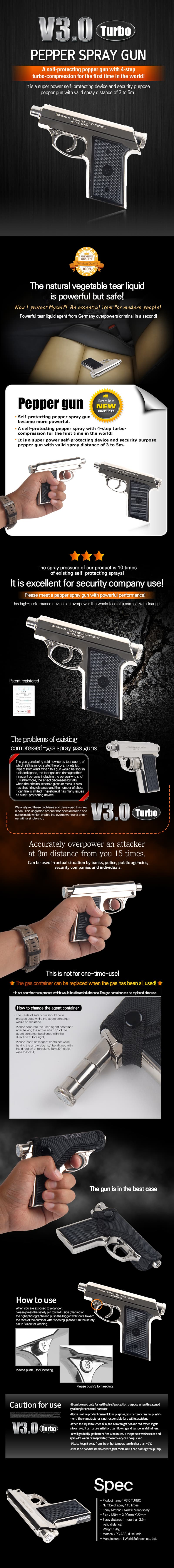 V3-0 Turbo -pepper spray gun-