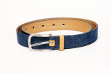 men_s denim fabric leather belt
