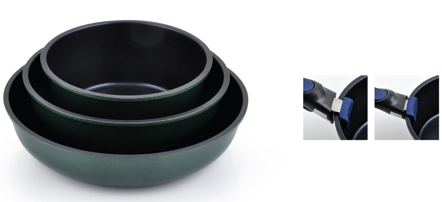 DONABE ceramic coating 2 handled Wok series