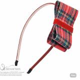 Check Ribbon headband