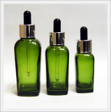Spoid Glass Bottle - Square, Green Color Type