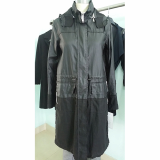 PU coated linen rain coat
